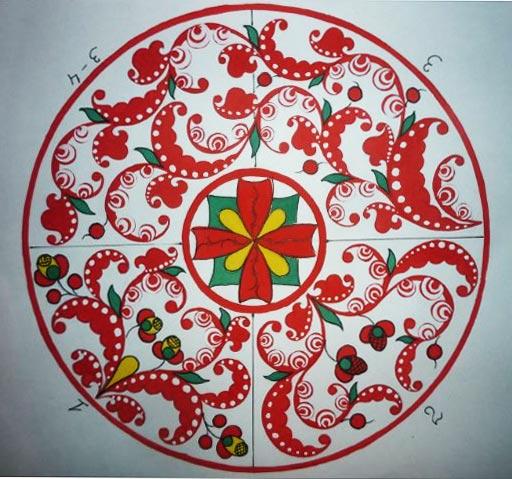 Пучужская роспись элементы