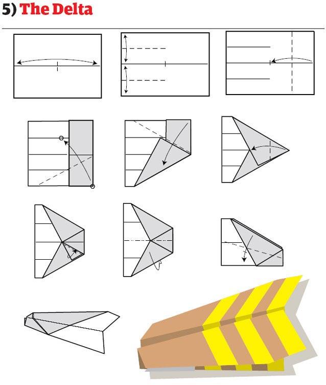 Как сделать самый быстрый самолет из бумаги схемы - Enote.ru