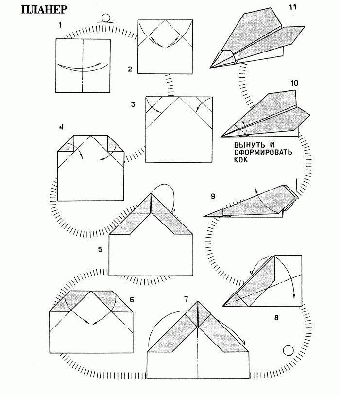 Как правильно сделать самолетики из бумаги