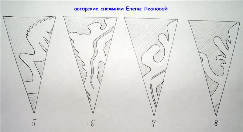 Как сделать снежинку из бумаги своими руками схемы для начинающих