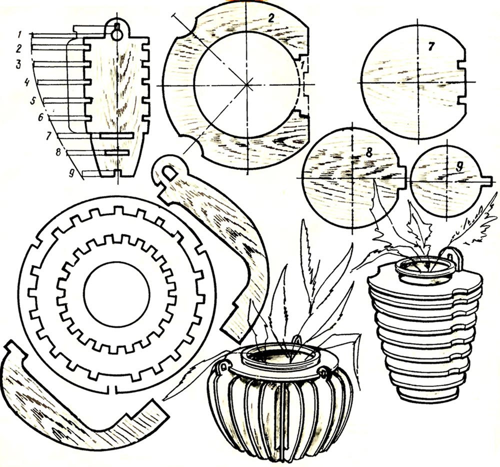 Чертеж вазы из фанеры своими руками