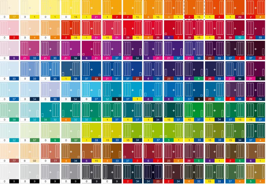 Цвета красок как сделать нужный цвет краски 977
