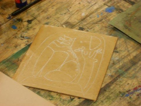 Как сделать гравюру на картоне в домашних условиях