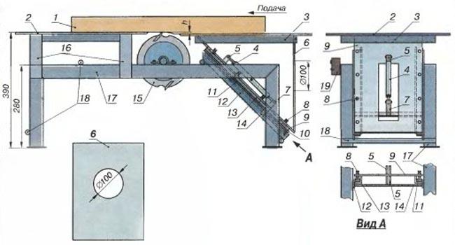 Стол для фуговального станка