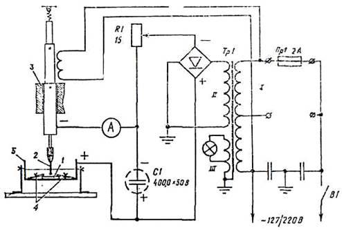 схема электроискровой