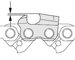 Шаблон для заточки цепи бензопилы