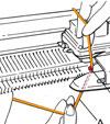 Фиксация отделочной нити (увеличение)