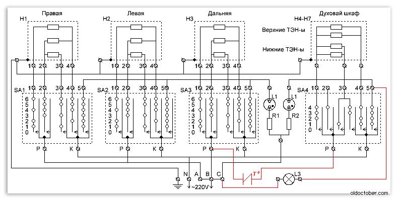 схема электроплиты «