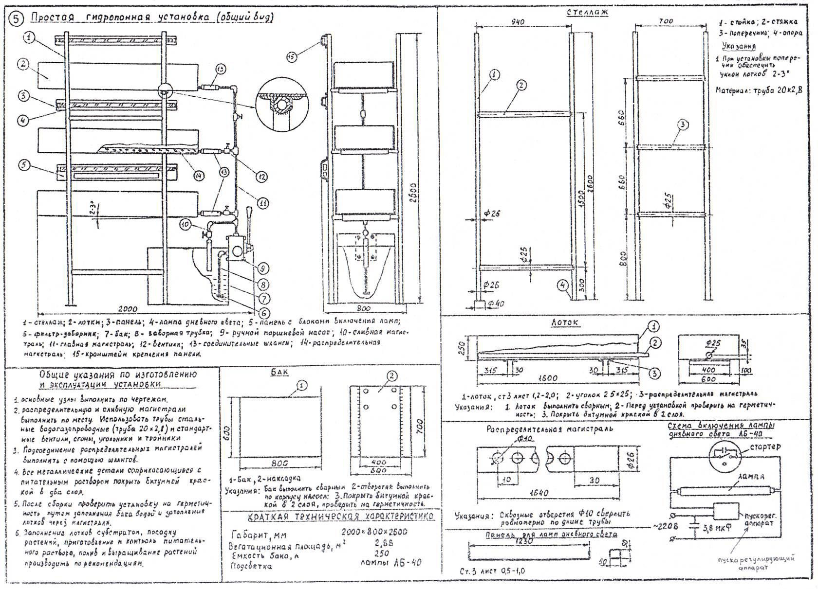 схема гтдропонной установки