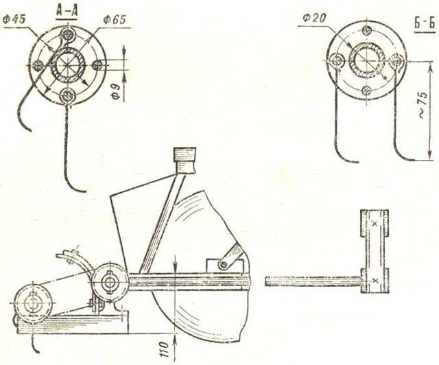 Косилка роторная для мотоблока своими руками чертежи