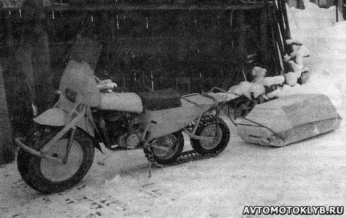 Мотоцикл на гусеницах своими руками