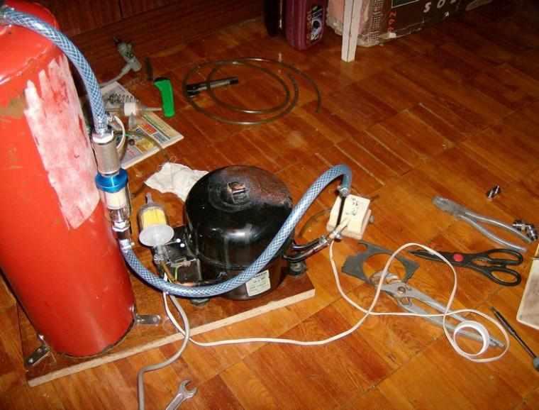Как сделать дома компрессором 678