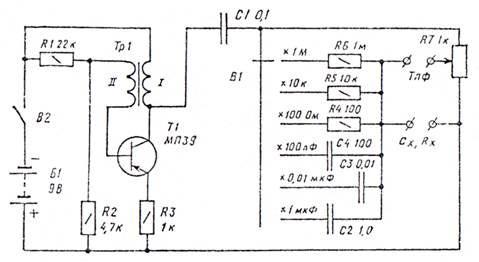 Измерительный мост, схема