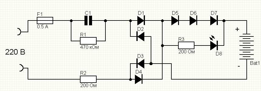 зарядник для аккумуляторов