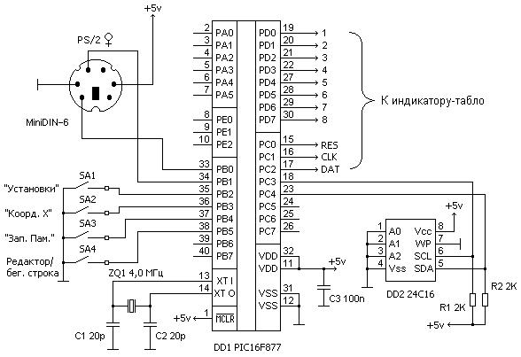 Схема блока контроллера.