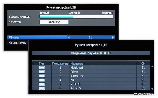 Скриншот экрана ТВ в режиме