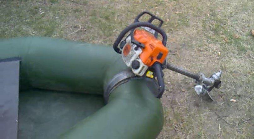 Насадка для бензопилы лодочный мотор своими руками