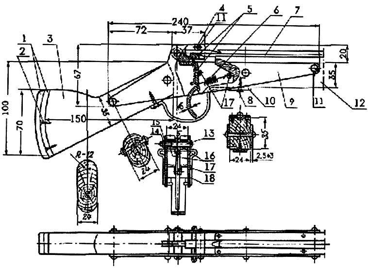 Арбалет для подводной охоты своими руками чертежи