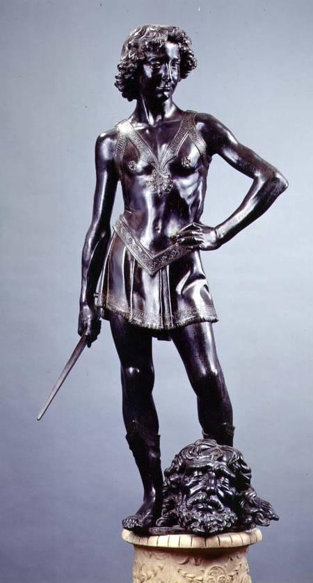 a comparison of two statues of david by vercchio and donatello